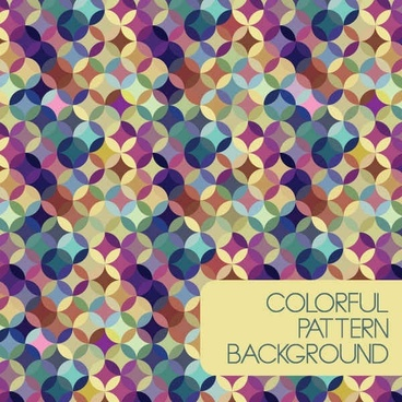 Colorful Pattern Background Vector Graphic