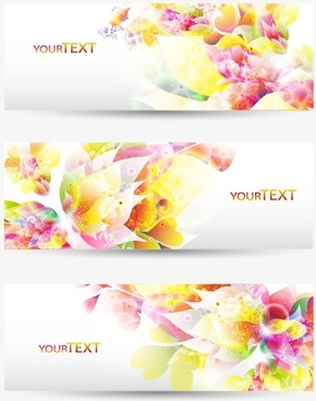 colorful patterns banner01vector
