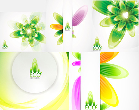 colorful plant background design vector