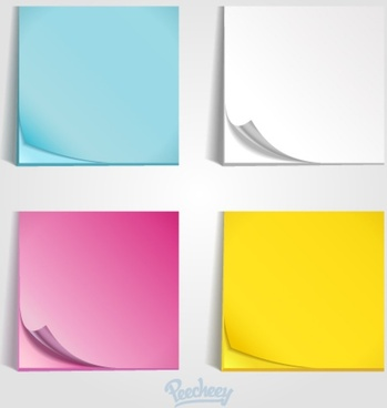 colorful post it templates
