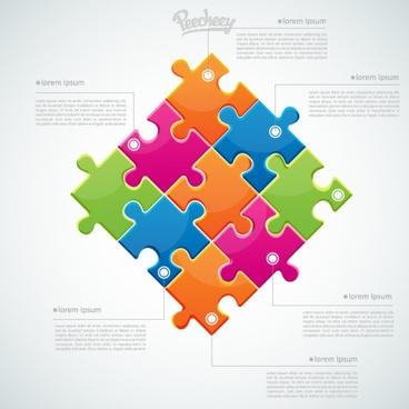colorful puzzle business concept