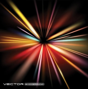 colorful rays vector trend