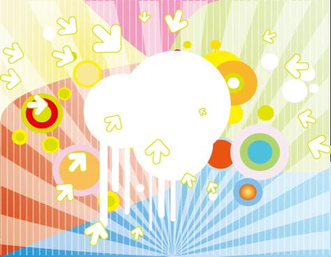 colorful retro vector design