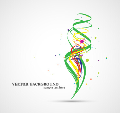colorful ribbon with dot vector background