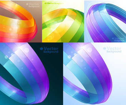 colorful ribbons background vector