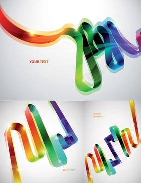 colorful ribbons vector