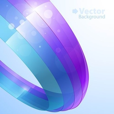 colorful ribbons vector background 1
