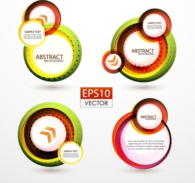 colorful ring label 01 vector