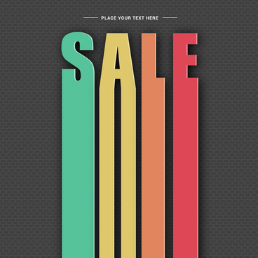 colorful sale banner decor