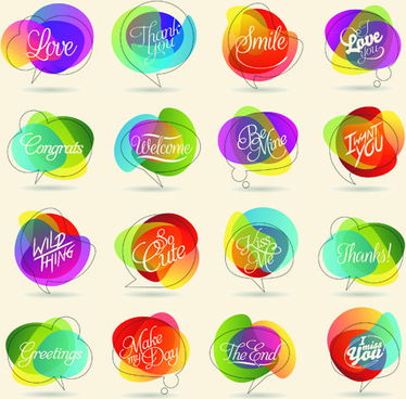 colorful shape logos design vector