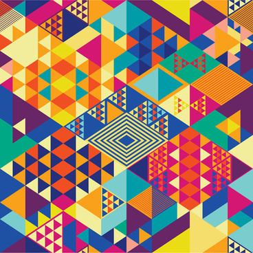 colorful shapes abstract background