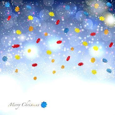 colorful snowflake abstract background
