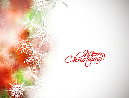 colorful snowflake christmas background vector