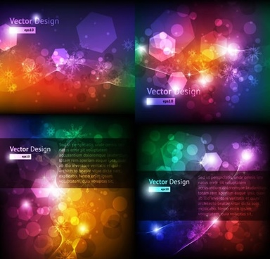 decorative background templates colorful twinkling blurred geometric lights