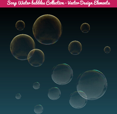colorful soap water bubbles vector set