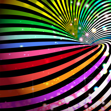 colorful sparkle delusion lines background