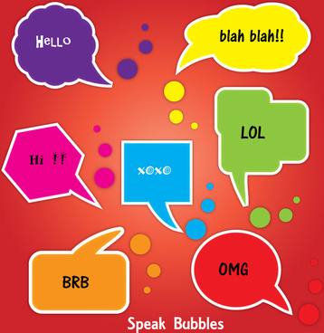 colorful speak bubbles