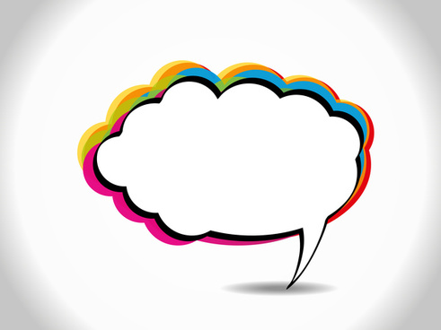 colorful speech bubble