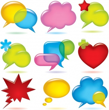 speech bubble templates modern colorful shapes