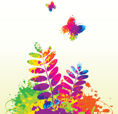 colorful spring vector graphic