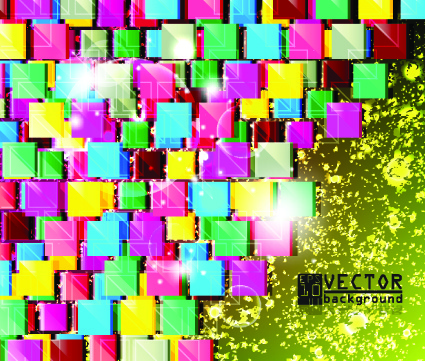 colorful square vector background art