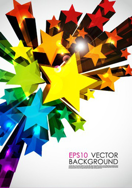colorful stars background art vector