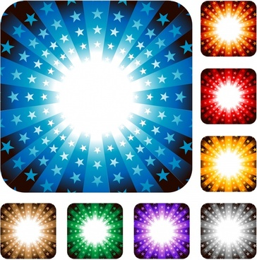 stars light background templates modern colored vivid rays