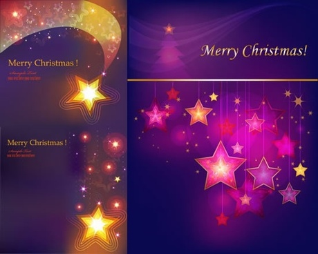 christmas backgrounds sparkling colored stars decor motion design