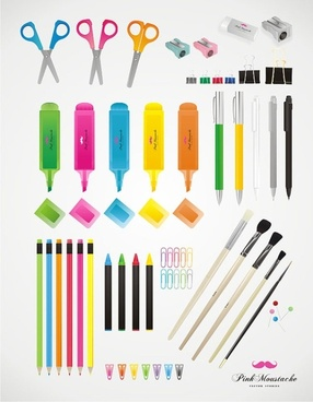 colorful stationery vector