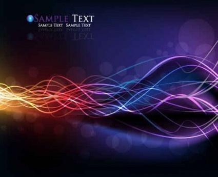 colorful streamer background design vector