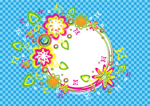 colorful summer brush circle