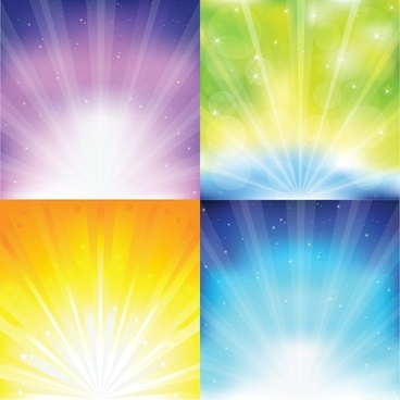 Colorful Sunburst Vector Graphics