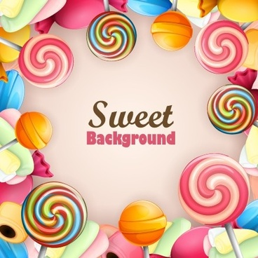 colorful sweet and background art vector
