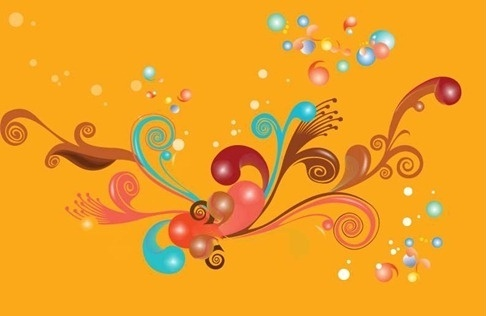Colorful Swirls Vecotr Illustration