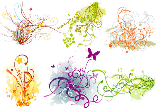 colorful swirls vector art graphics