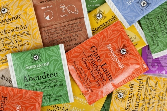 colorful tea bags