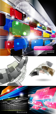 colorful technology background vector