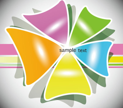colorful template creative vector background