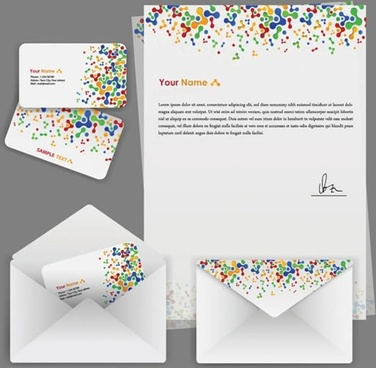 corporate identity templates colorful modern abstract spots decor