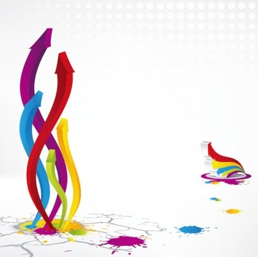 colorful threedimensional arrow vector