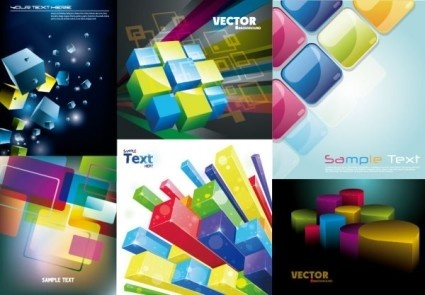 colorful threedimensional art background vector