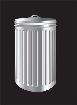 colorful trash can vector