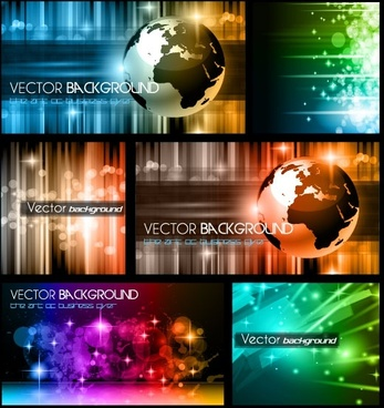 colorful trend of dynamic background 01 vector