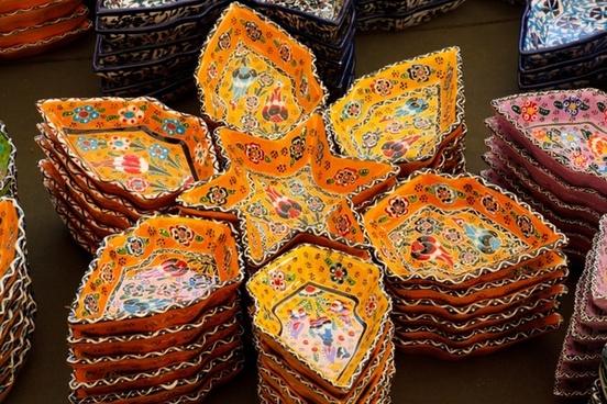colorful turkish ceramics