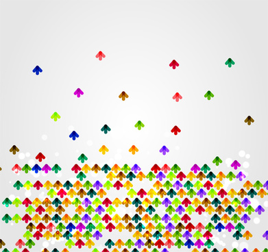 colorful up arrow background