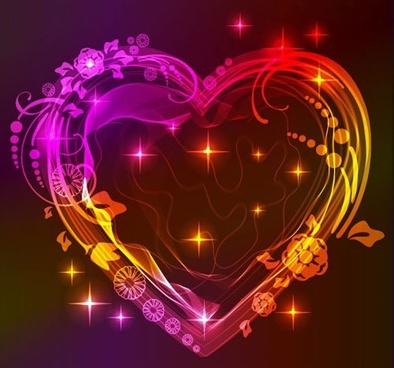 colorful valentine heart vector