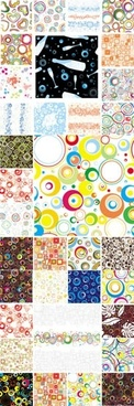 decorative background templates various themes colorful flat design