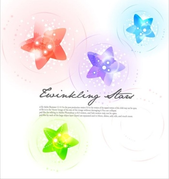 colorful vector background 1 star