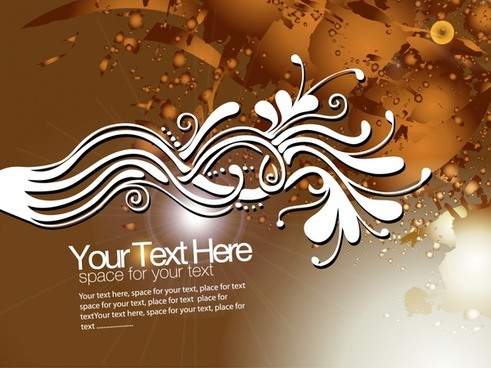 abstract background grunge brown vivid design curves decor