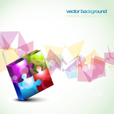 colorful vector background 2 puzzles